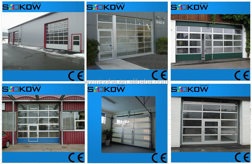 Anodized Aluminum Glass Garage Door With Pass Through Dooraluminum