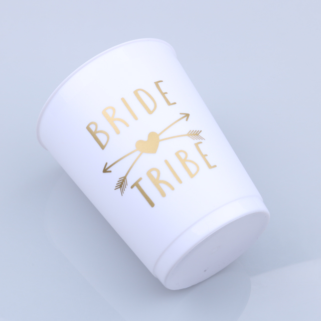 Bachelorette party supplies white plastic cup weeding party accessories bride cup