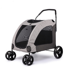 2017 high quanlity luxury twin pet jogger large dog stroller pet bike trailer
