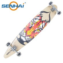 SENHAI 46*9 inches new design cool 100 Canadian maple longboard skateboard for sale