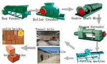 full auto logo brick plant with hoffman kiln /vacuum clay mud brick extruder /snall brick making project in india