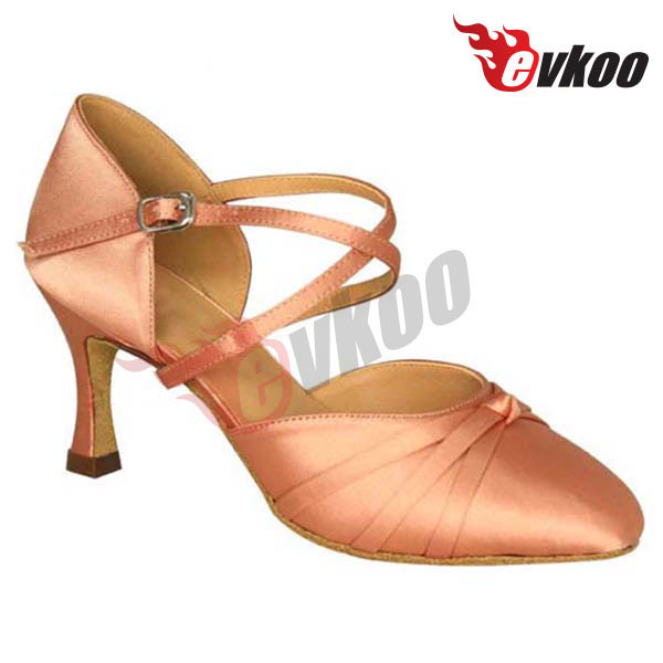 Professional satin material high quality high heel women dance shoes cheap price zapatos de baile
