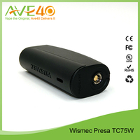 Presa TC75 WISMEC Factory price here! replaceable cell/magnetic battery cover/changeable firmware mode