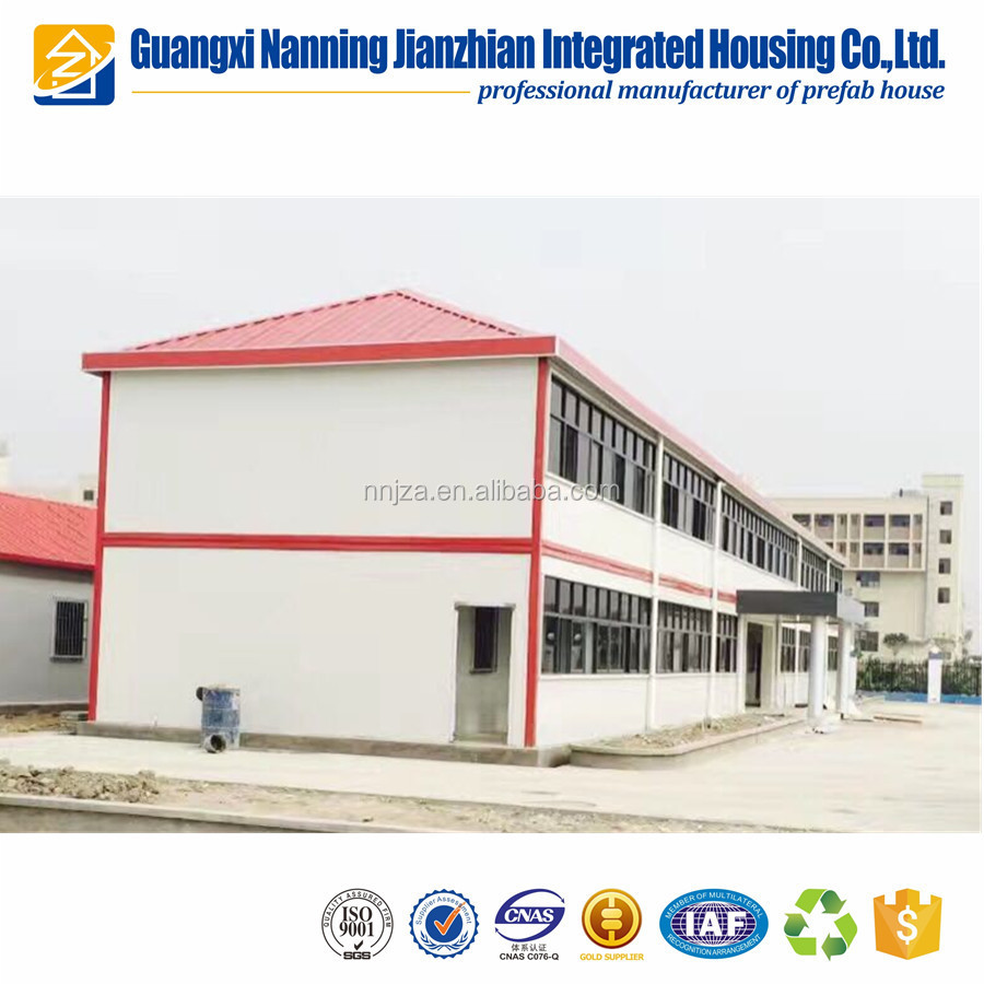 Good exterior appearance prefabricated house / maison with pvc cladding decoration