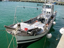 Japan used fiberglass diesel engine fishing boat cheap