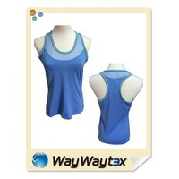 OEM No1 polyester fabric sexy design blue women sports wear
