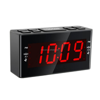 Newest Snooze fucntion Digital Red LED Alarm Clock Buzzer Radio