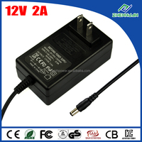 Wall mount adapter power supply adapter 12V 2A uninterruptible power source