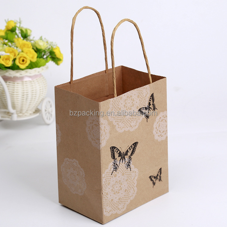 Lower price recycled custom printed tiny paper bags