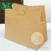 Hot sales good quality fast delivery die cut handle paper bags for take out