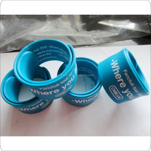 OEM silicone slap bands silicone snap breaclet