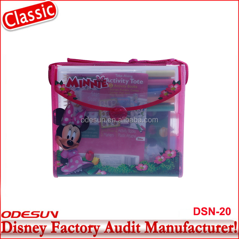 Disney Universal BSCI Carrefour Factory Audit Kungfu Panada Minnie Bag School File And Folder Stationery Product Set22
