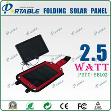Hot! 2014 Intelligent, 2.5w Folding Solar phone tablet charger for power bank