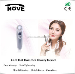 2016 Handheld vibrating massager with cool and warm nursing