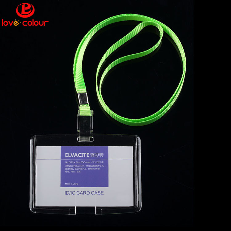Wholesale visitor card holder with strap