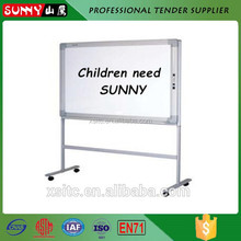 Wholesales double sided portable interactive magnetic whiteboard