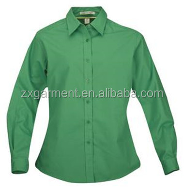 ladies pink shirts office uniform cotton blouse oem factory
