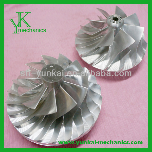 Custom 5 axis impellers titanium cnc machining service