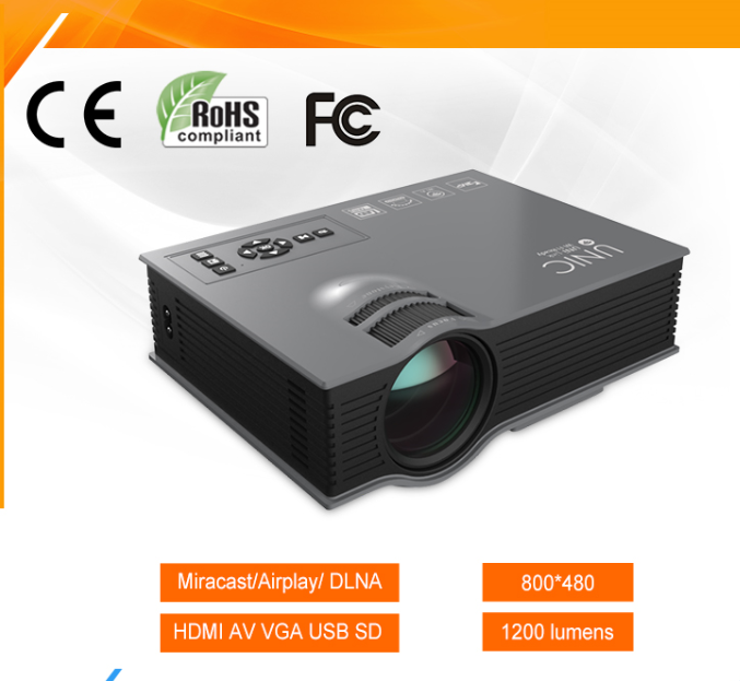 UNIC UC46 Wholesale Portable LED LCD Mini Projector for Mobile Phone/Computor and Tablet