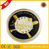 High Quality Los Angeles Dodgers Challenge Coin, 24k Gold Plated Coin Of American LA Baseball