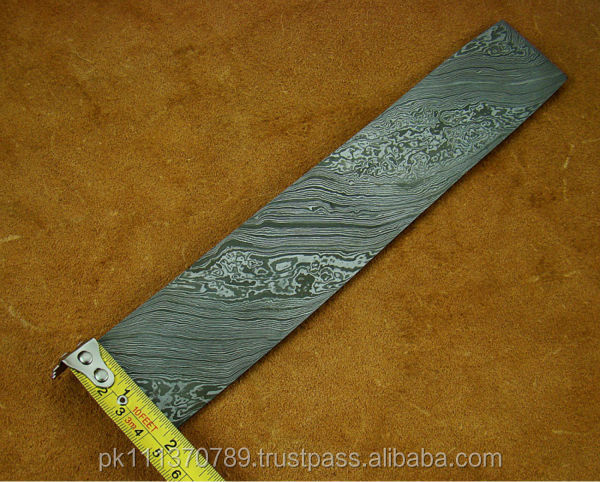 Damascus Steel Solid bar coloured