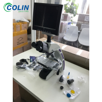 Electronic binocular Biological Microscope with halogen lamp
