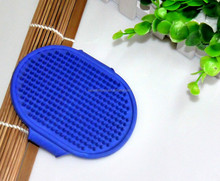 Rubber pet dog care brush dog comb for hair massage