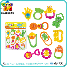 2016 best selling baby rattle teether gift set infant toys for promotion