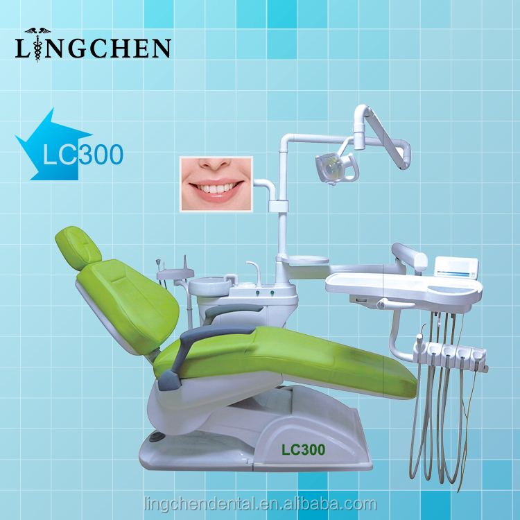 China manufacturers good price on dental unit chair with full options, dental chair (LC300)