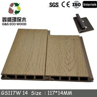 Insulated interior wood plastic composite wall panel
