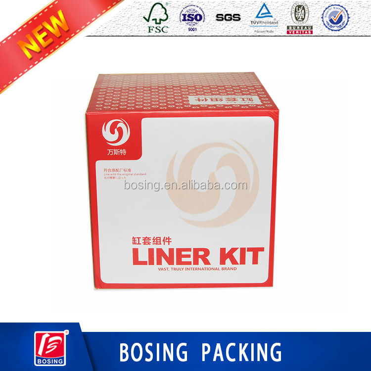 Manufacturer cheap corrugated paper CMYK printing kit packaging box