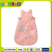 Lovely pink design cotton baby sleeping bag