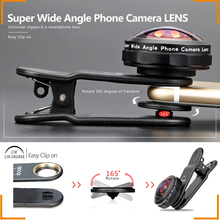 mobile phone accessories professional HD super wide angle lens with universal clip camera lens cover for mobile phon
