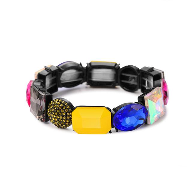 Custom Bangle Plastic Acrylic Beads Crystal Rhinestone Bracelet
