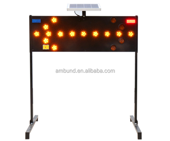 The Middle East Type Solar LED Warning Light Traffic Arrow Board Led Lamps