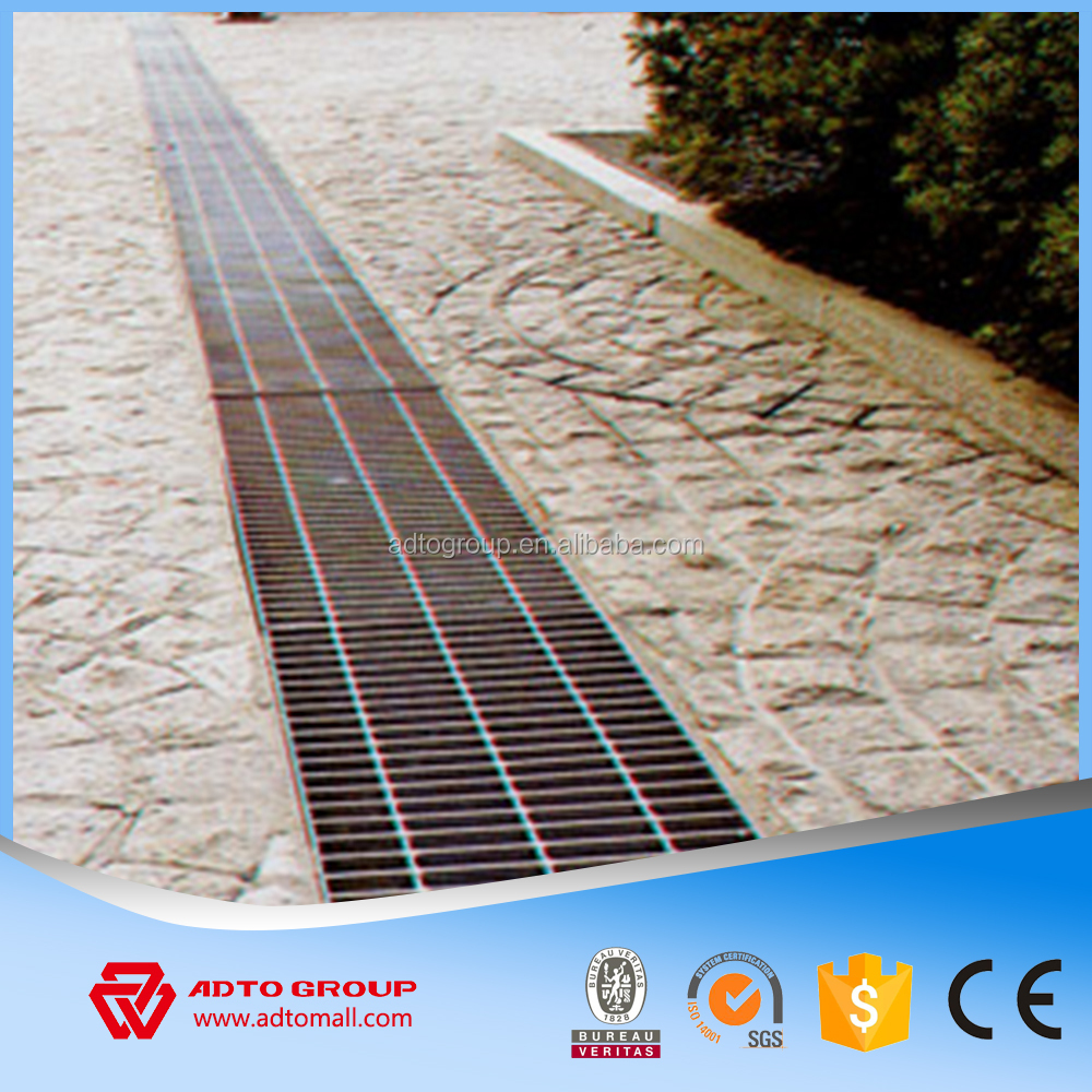 ADTO High Quality Low Carbon Steel Flat Bar Grating Metal Floor Mezzanine Platform Stair Treads Trench Cover China Manufacturer