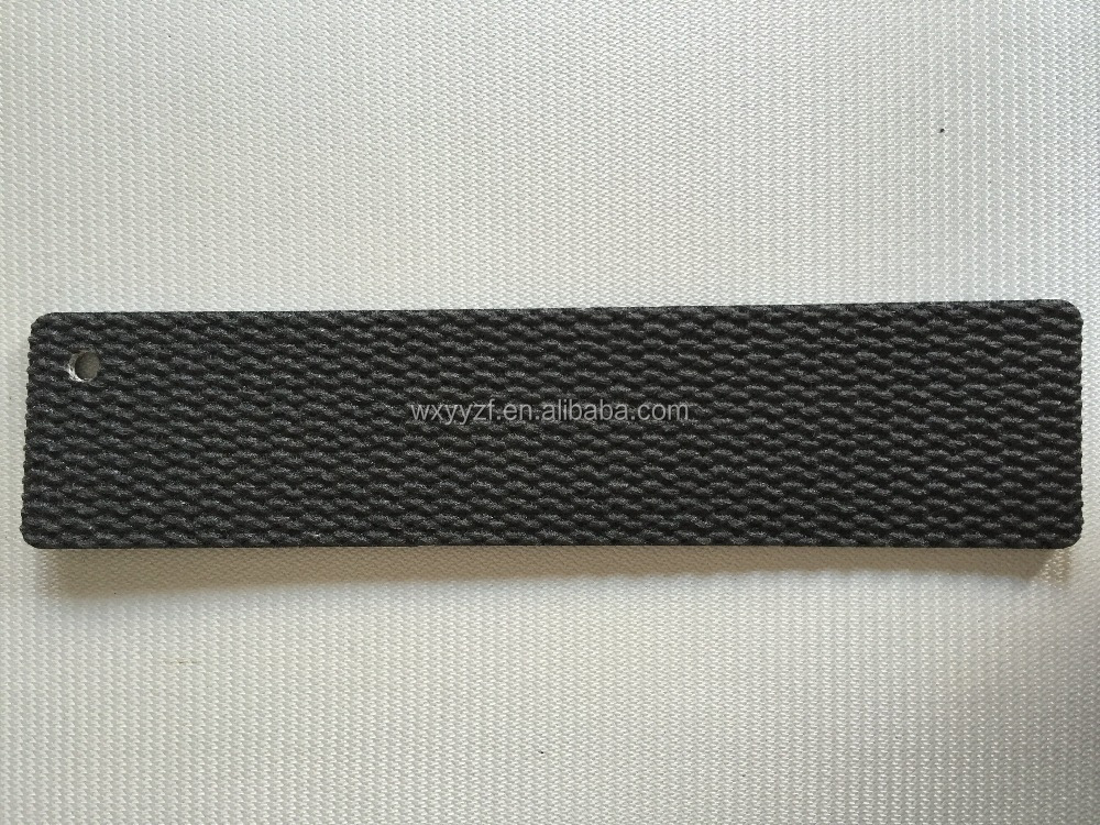 High strength 4.3mm black pvk conveyor belt for Logistics industry