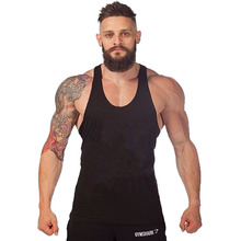 Tank top manufacturer low price low MOQ custom wholesale loose fit breathable blank tank top men gym