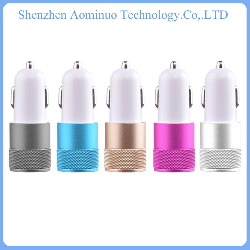 consumer electronics usb car charger 2 port mini car battery charger for mobile phone dual usb car charger
