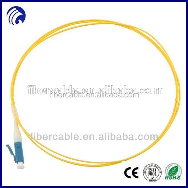 Supply Wanbao singlemode simplex fiber optic pigtail 0.9mm pigtail with ST/FC/SC/LC/MTRJ/E2000 connector