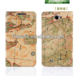 FL3135 2013 Guangzhou high quality world map wallet leather flip case for samsung galaxy note 2 n7100