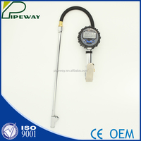 Digital Pressure Gauge Air Tire Inflator with Long Tire Chuck