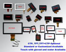 "Sample in stock 3.5"",4.3"",5"",7"" LCD TFT capacitive touchscreen"