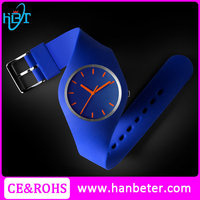 2015 Top Quality popular waterproof fashion silicon watch lady silicone watch
