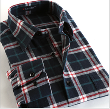 L10833A 2018 Comfortable pure cotton lounge flannel all cotton man style long sleeved shirt