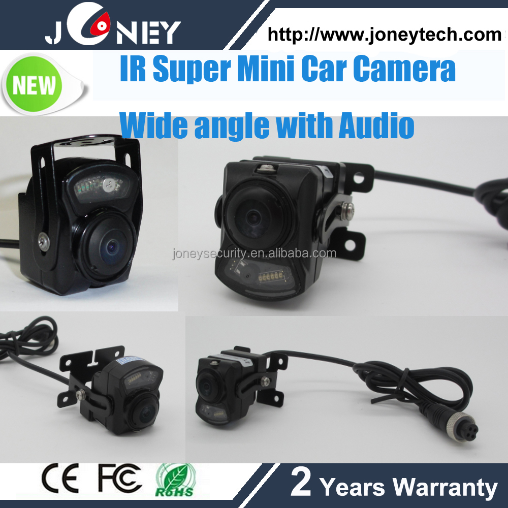 "1/3"" SONY CCD 700TVL IR Super Mini Car Camera Wide angle with Audio"