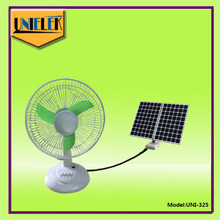 Strong wind new product !! High speed copper motor 12 inch solar dc power table fan price