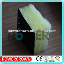 black thin fiber cloth faced fiberglass insulation/ Glass Wool Mat with Kraft Paper Faced
