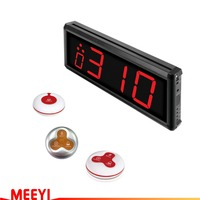 Meeyi wireless paging system wireless waiter call bell LED display receiver