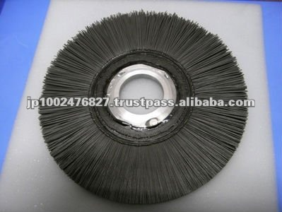 brushing wire wheel for burr, polish, horning